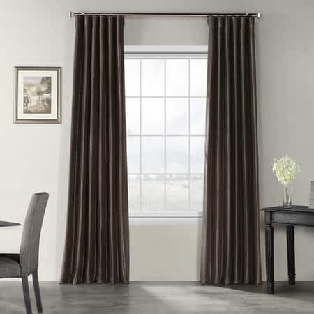 Urban Grey Vintage Textured Faux Dupioni Silk Curt...