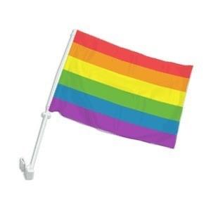 Car Window Automobile Gay Flag / Rainbow Flag - LG...