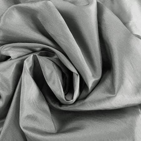 Platinum Faux Silk Taffeta Fabric