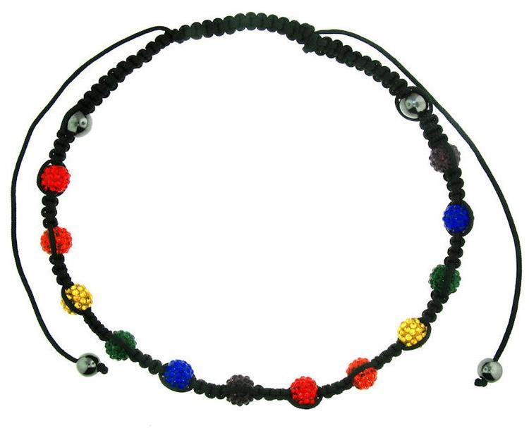 Shamballa Rainbow Adjustable Necklace - Gay and Le...