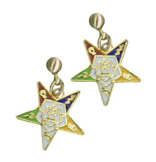 OES Dangling Earrings with Order of the Eastern St...
