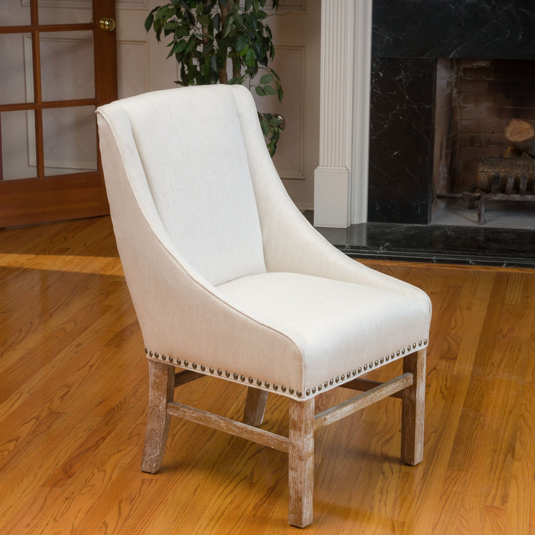 Claudia Linen Colored Fabric Dining Chair