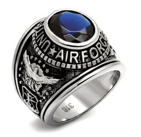 Air Force - USAF Military Ring (Stainless Steel wi...