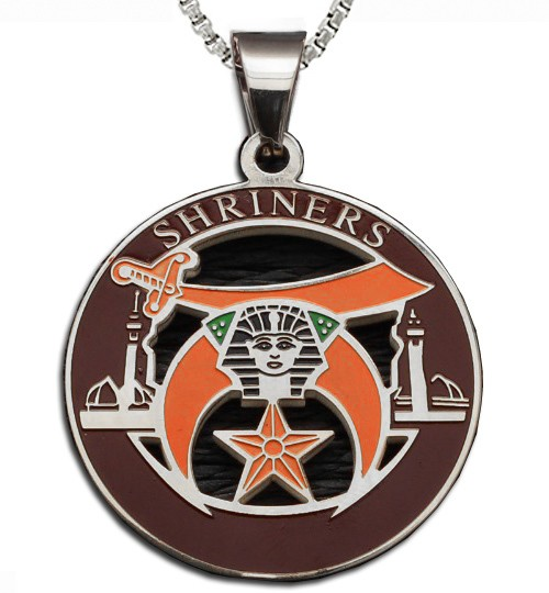Shriners - Silver Color Stainless Steel Masonic Fr...
