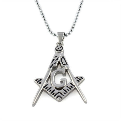 Freemason Pendant / Masonic Necklace - Cut Out Des...