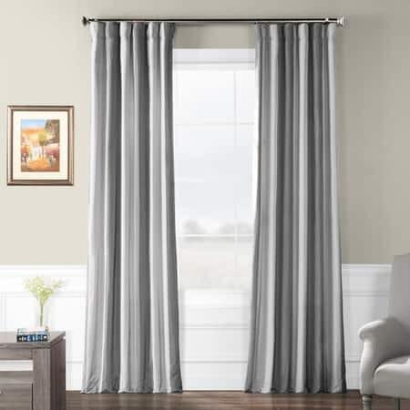 Hartford Faux Silk Stripe Curtain