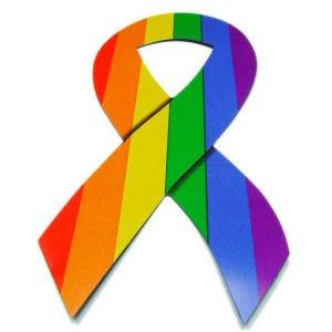 Rainbow Pride LGBT Gay & Lesbian - Ribbon Car...