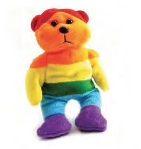 Plush Full Rainbow Teddy Bear - LGBT Gifts - Lesbi...