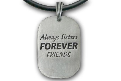 Always Sisters - Forever Friends Necklace - Pewter...