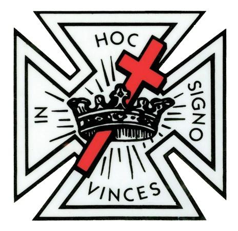 Masonic Knights of Templar Car Window Sticker Deca...