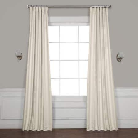 Birch Faux Linen Blackout Curtain