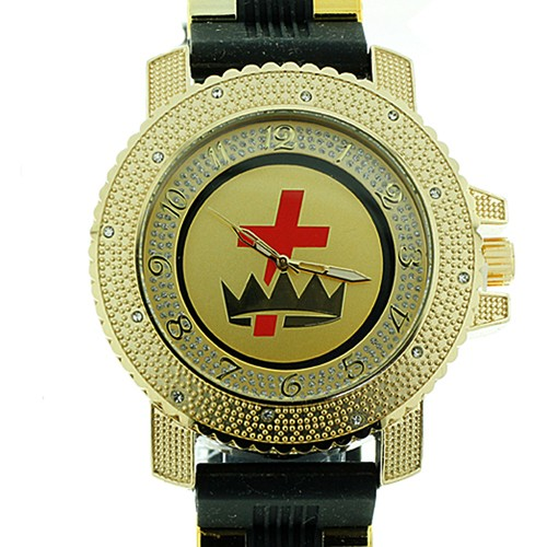 Knights of Templar Watch - Cross and Crown - Black...