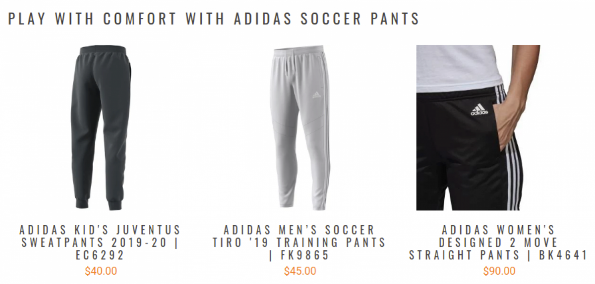 Branded soccer pants for men and women must have t...
