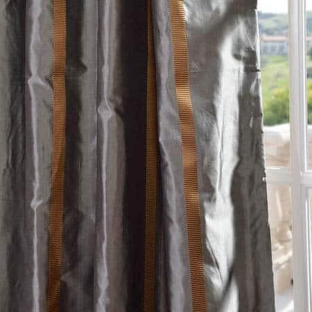 Preston Silk Taffeta Stripe Fabric