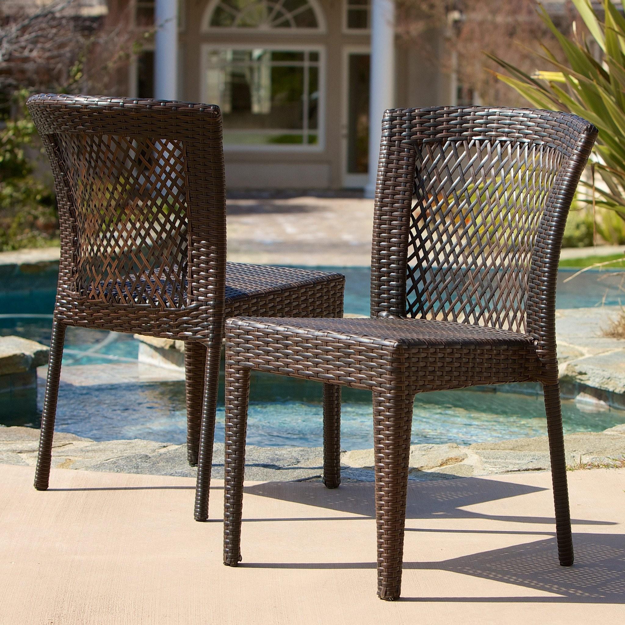Dana Point Outdoor Patio Furniture Brown Wicker Ch...