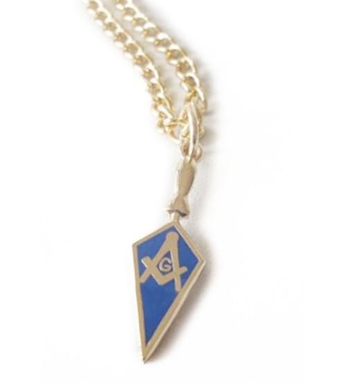 Masonic Pendant - Mason Blue Trowel Necklace For F...