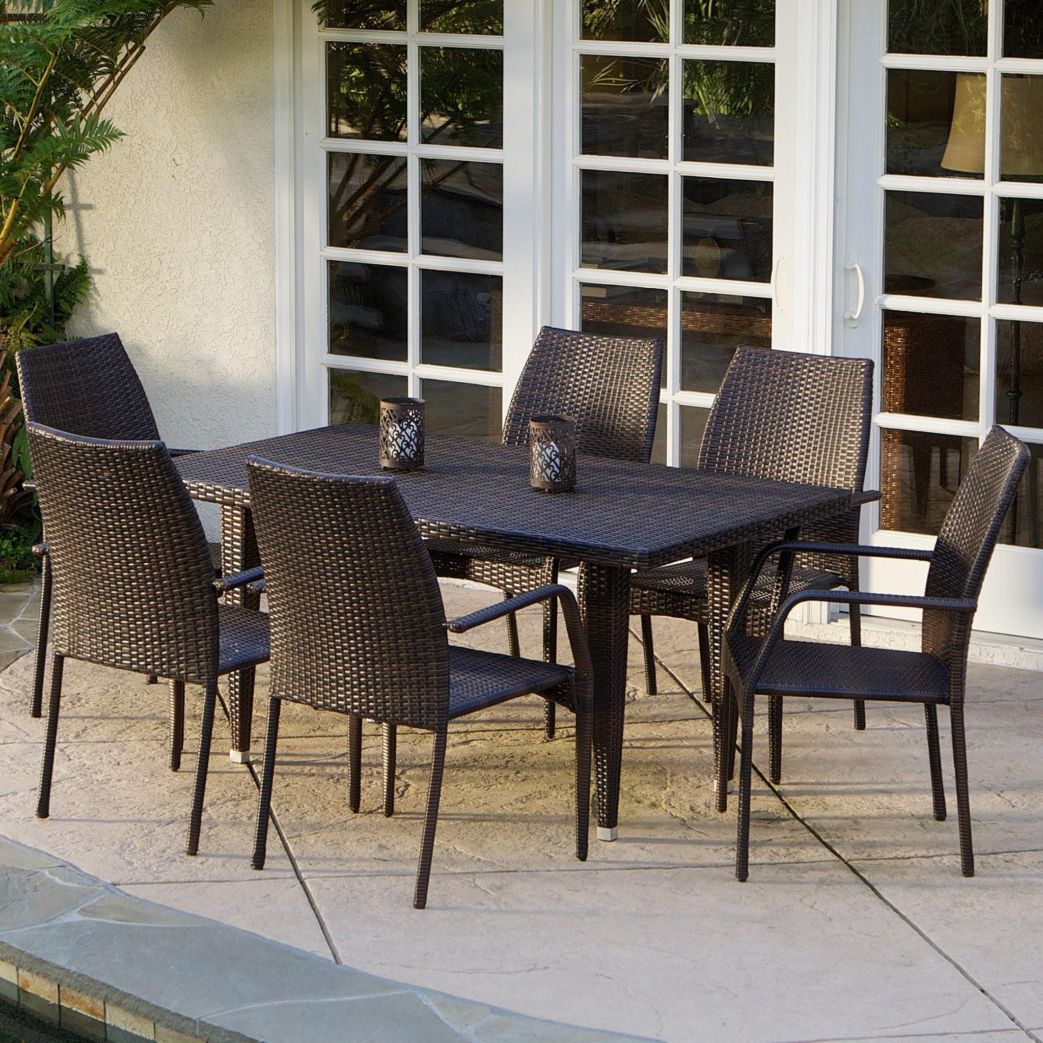 Michael 7-Piece Outdoor Wicker Dining Set