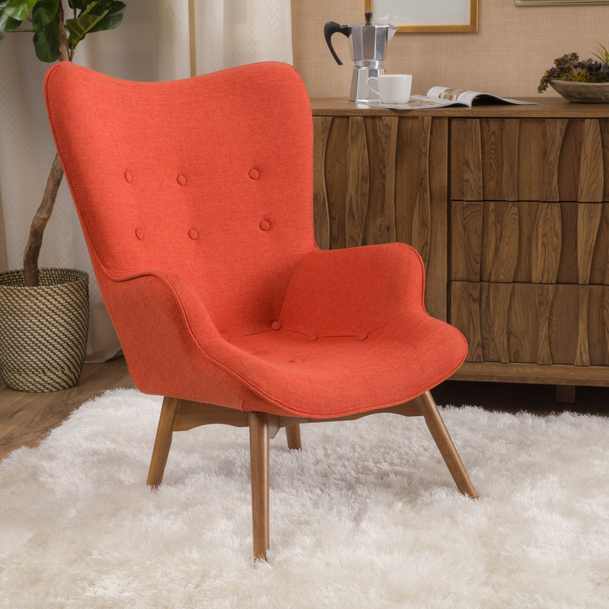 Acantha Mid Century Modern Contour Lounge Chair