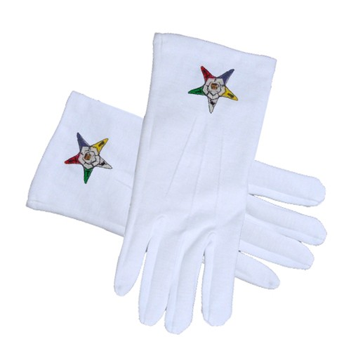 OES Classic Star Face Cotton Gloves - White (One S...
