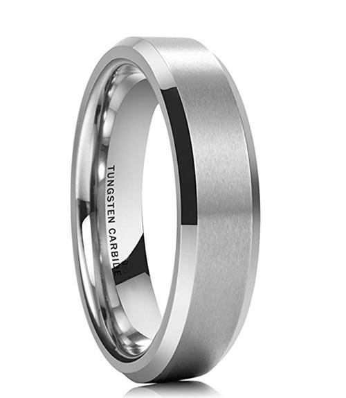 6mm - Unisex or Women's Tungsten Wedding Band...