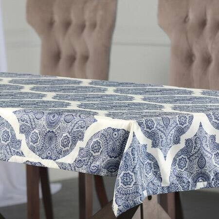 Royal Mendi Designer Faux Silk Taffeta Table Cloth