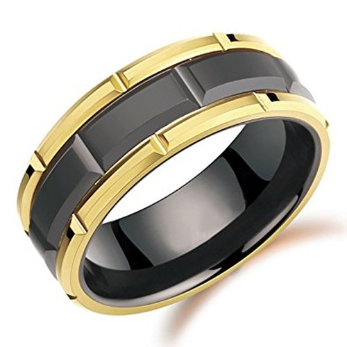 8mm - Unisex or Men's Tungsten Wedding Band. D...