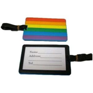 One (1) Rainbow Pride 4 x 3 inch Luggage Tag - LGB...