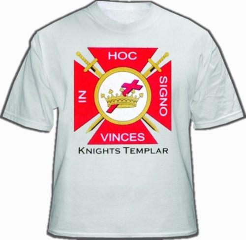 White Knights of Templar T-Shirt For Freemasons -...