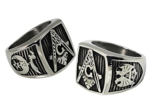Masonic Ring 32nd Degree Scottish Rite and Shriner...