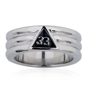 Freemason Ring / Masonic Ring - 33rd Degree Groove...