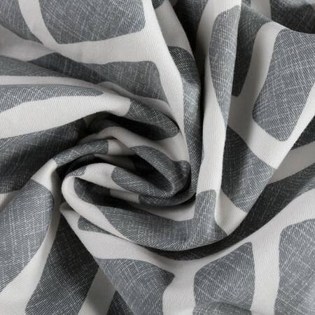 Martinique Grey Printed Cotton Fabric