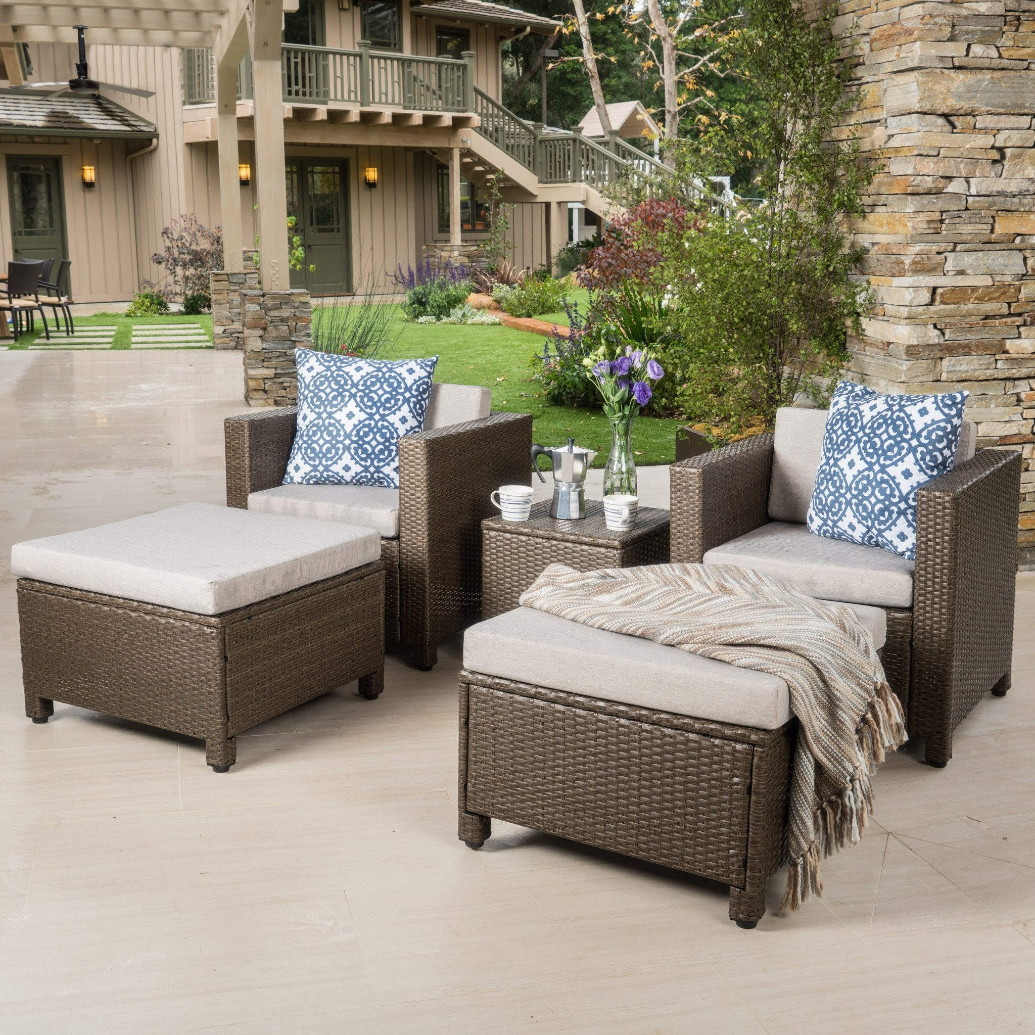 Budva Outdoor 5Pc Chat Set W Cushions