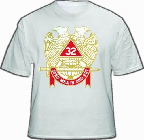 Masonic Shirt - Scottish Rite T-Shirt (White) 32nd...