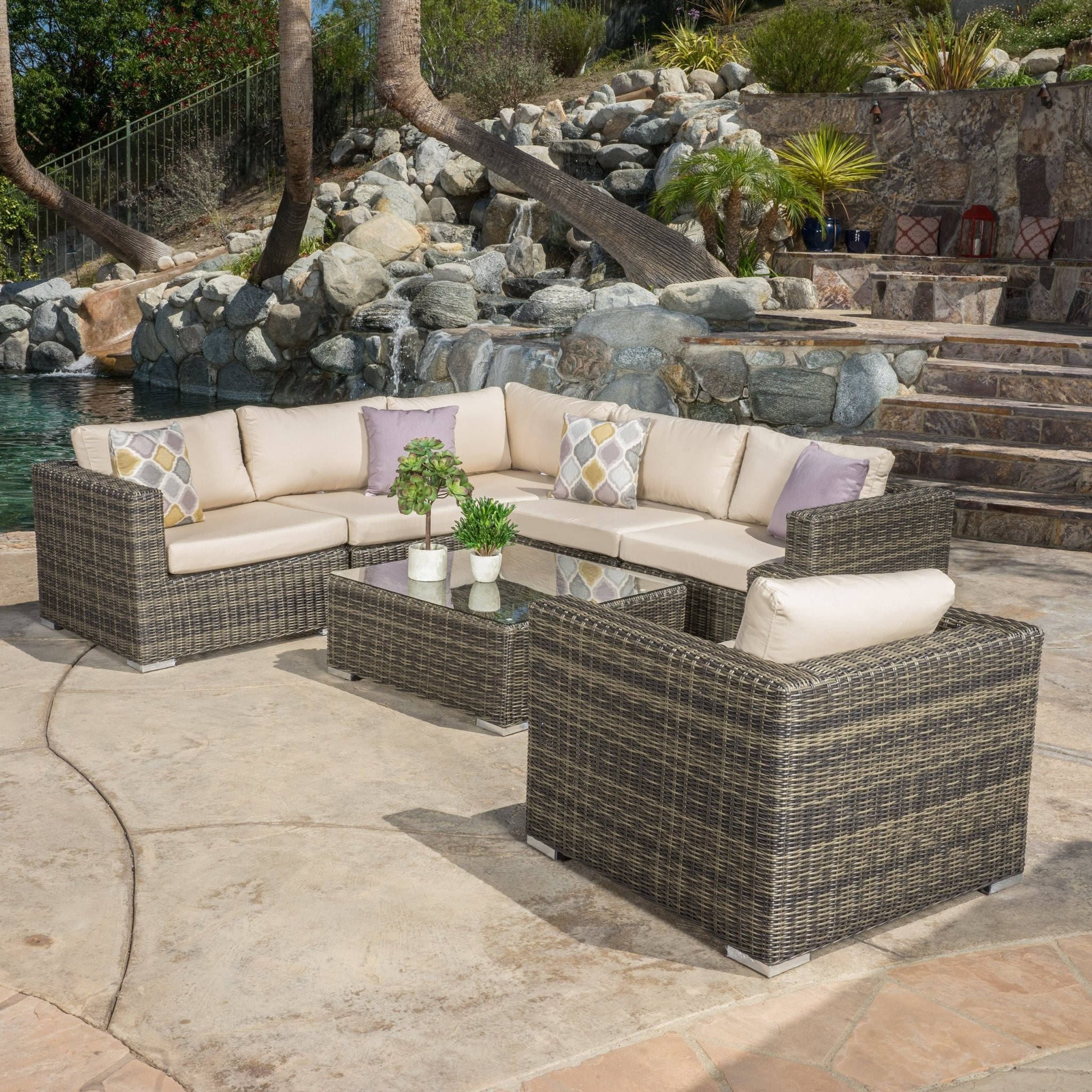 Henderson Outdoor 7-piece Wicker Seating Sectional...