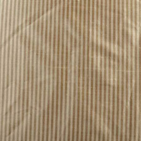 Cambridge Taupe Silk Stripe Fabric