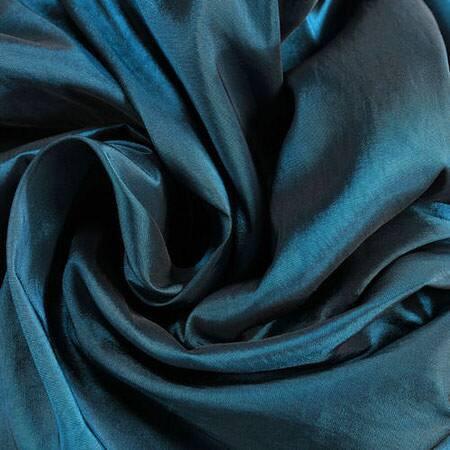 Mediterranean Faux Solid Taffeta Fabric