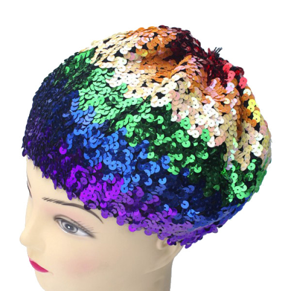 Sequined Rainbow Beanie Hat - LGBT Gay and Lesbian...