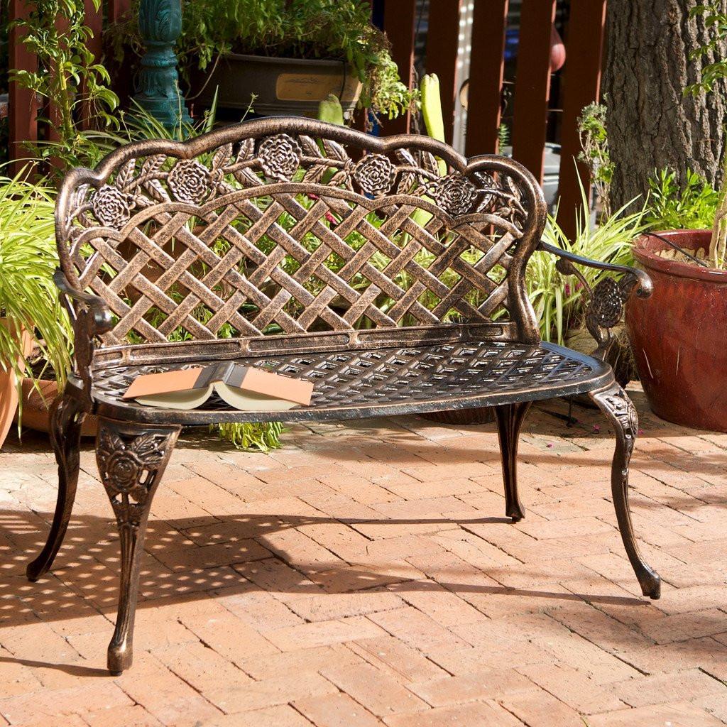 Santa Fe Cast Aluminum Garden Bench