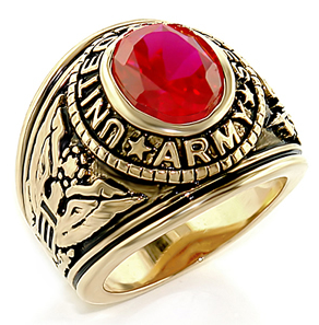 Army Ring - U.S. Armed Forces Military Ring (Gold...