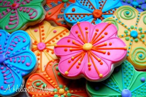 Hand-Decorated Iced Sugar Cookies - Recipe - A Hel...