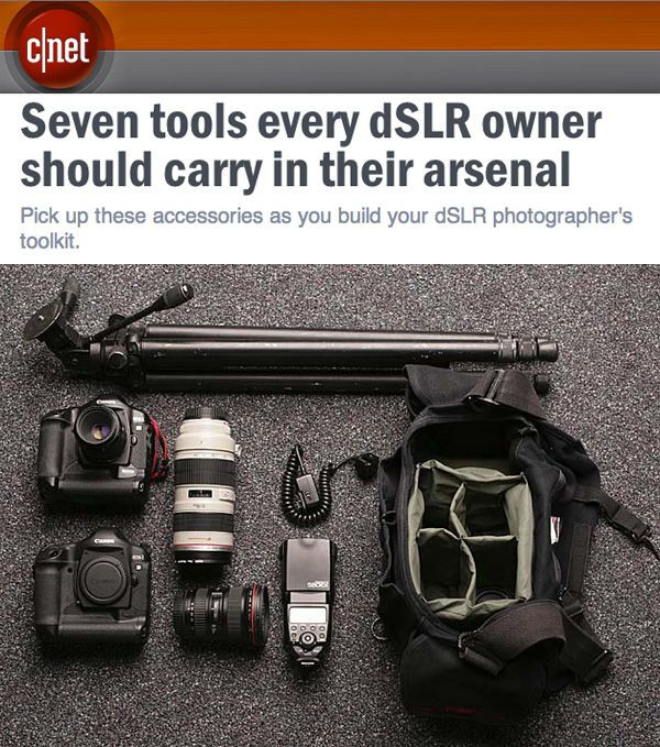 Seven tools every dSLR owner should carry in their...