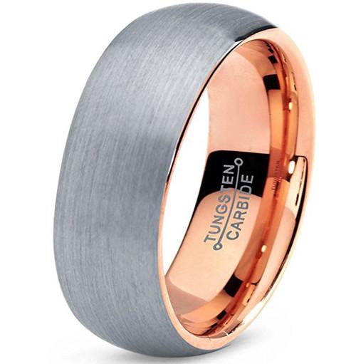 7mm - Unisex or Men's Tungsten Wedding Band. G...