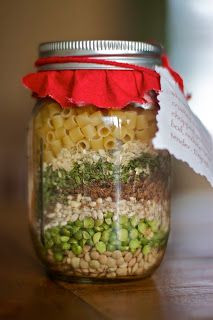 Organic Minestrone Soup Jars   Ingredients:  ¼ cup...