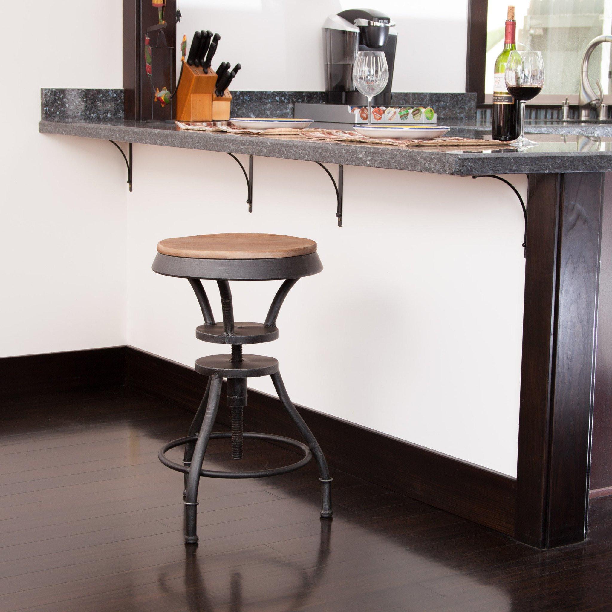 Henry Adjustable Iron Bar Stool
