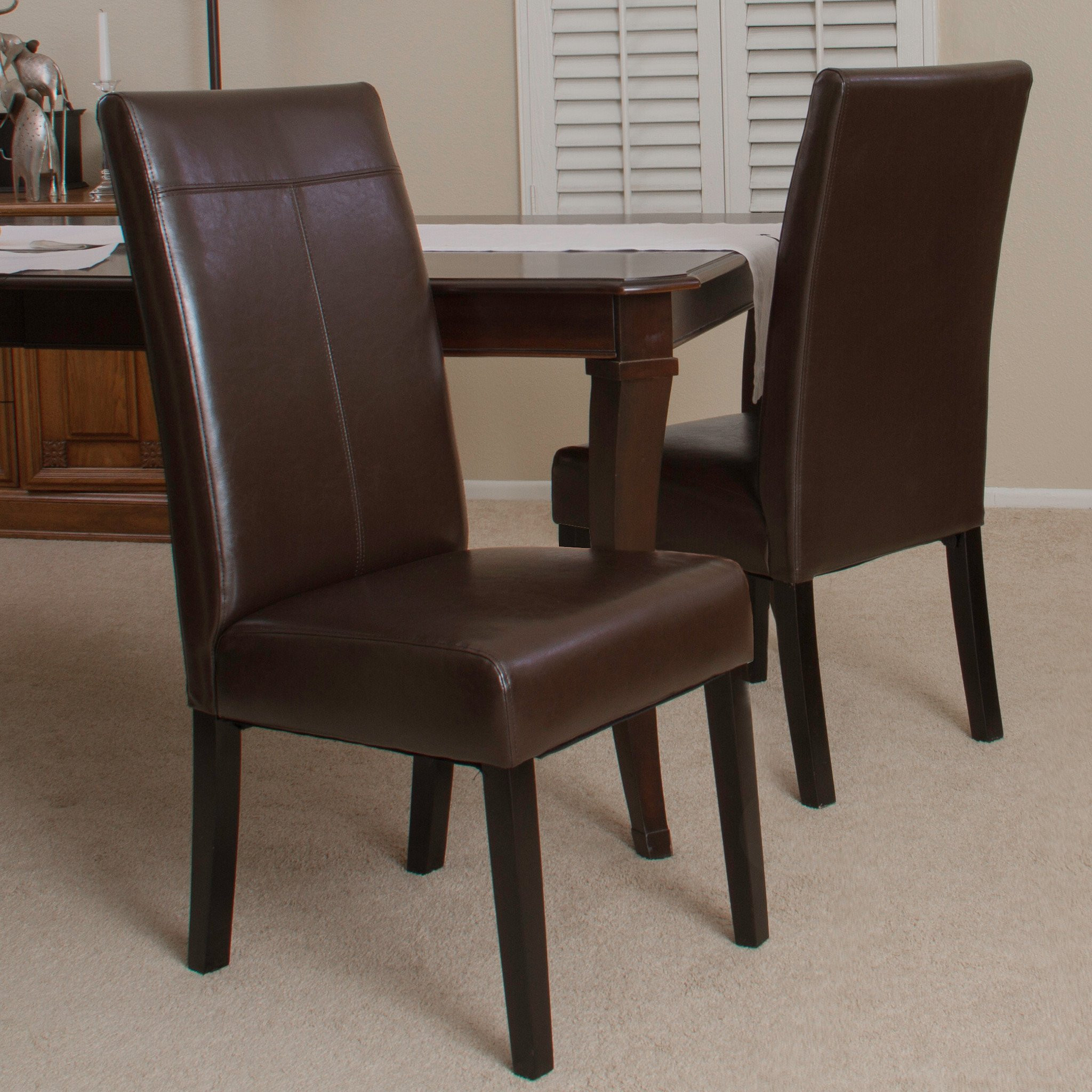 Fitzgerald Chocolate Brown Dining Chair (Set of 2)