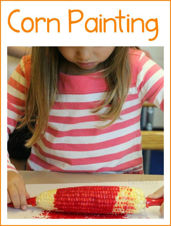 Corn Painting is a Fun, Easy Process Art Activity...