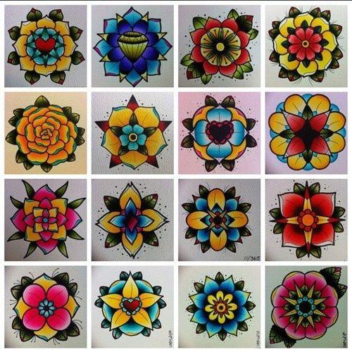 flash tattoo flowers - Google Search