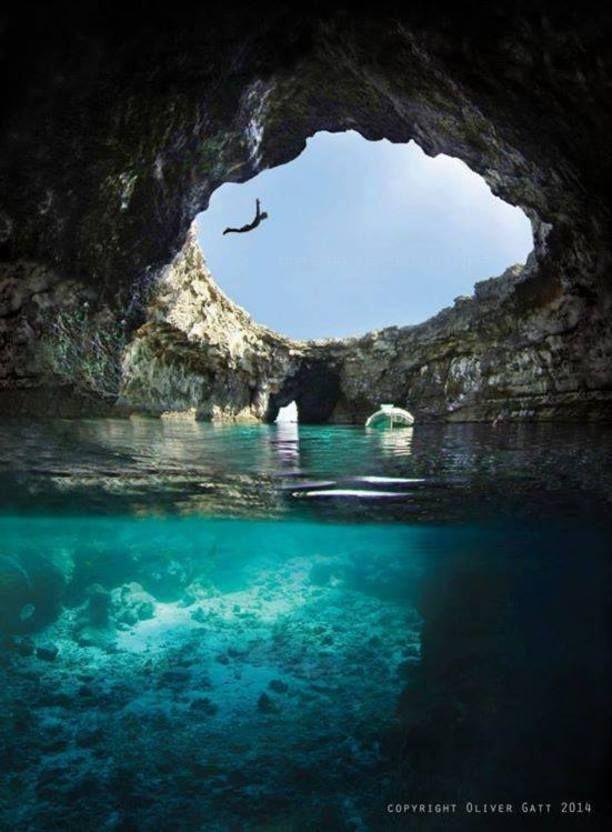 open cave, ahrax mellieha, Mellieha, Malta — by Sh...