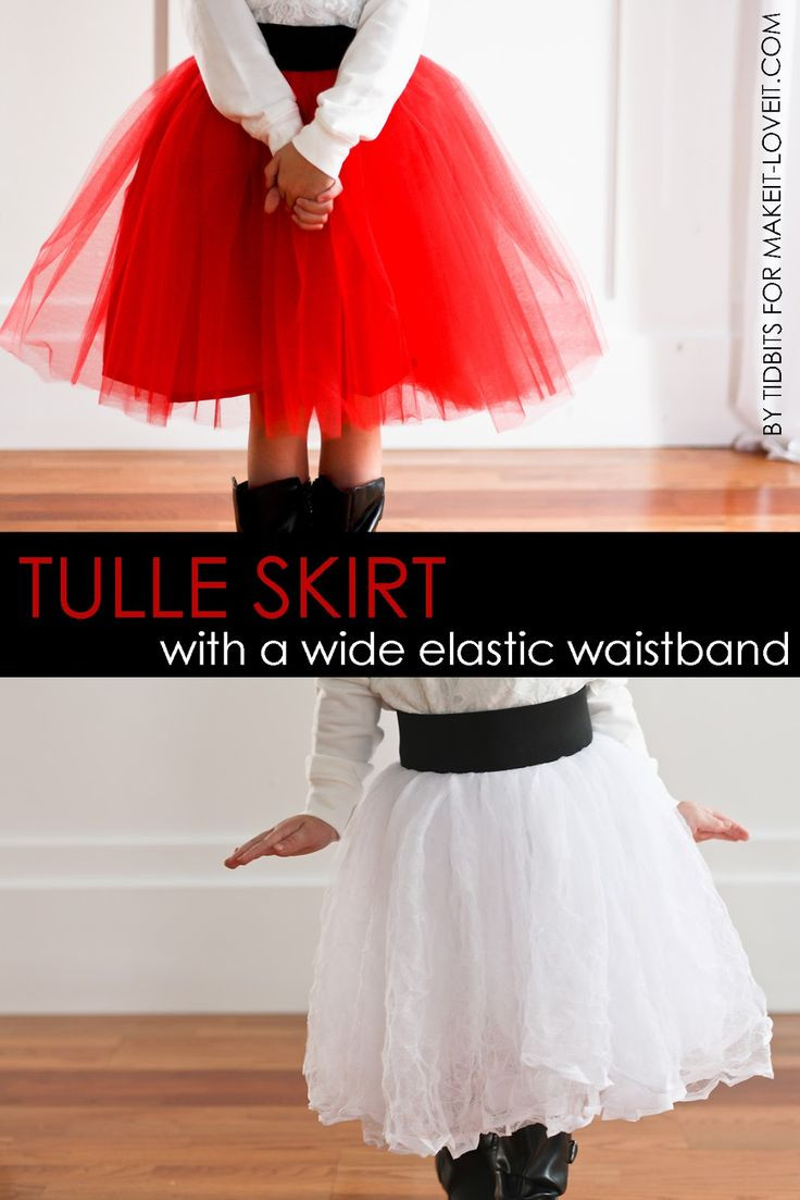 DIY Tulle Skirt…with Wide Elastic Waist Band