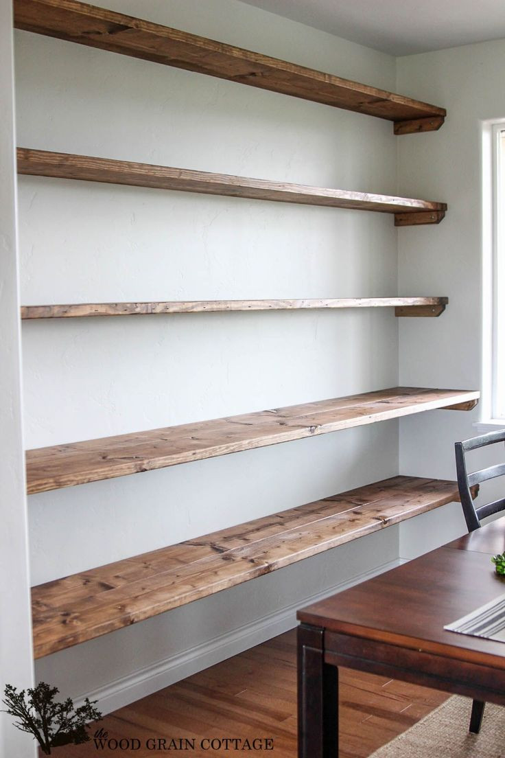 DIY Dining Room Open Shelving - The Wood Grain Cot...